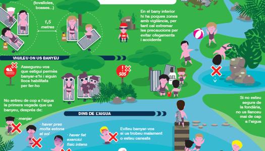 Mesures i consells de protecció per a la COVID-19, en cas de bany en piscines, rius, estanys o pantans