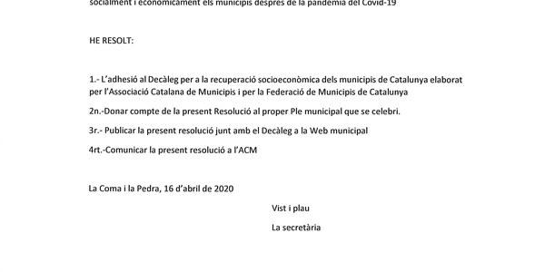 Resolució d'Alcaldia